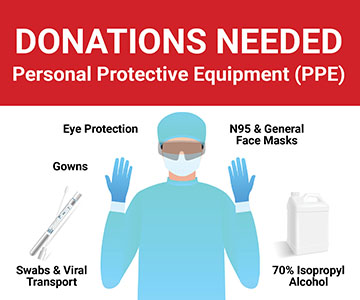 Samaritan Requests Personal Protective Equipment Donations