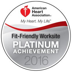 American Heart Association Fit Friendly Platinum 2016