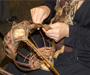 Patient Weaving Basket