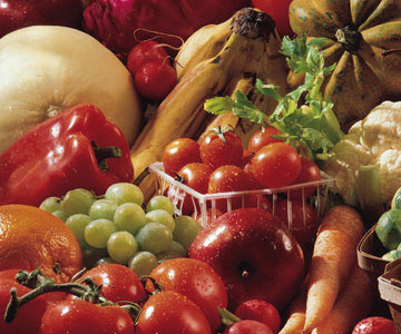 Fruits, vegetables, nuts and olive oil are part of the Mediterranean diet.