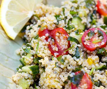 Quinoa provides a good source of plant protein