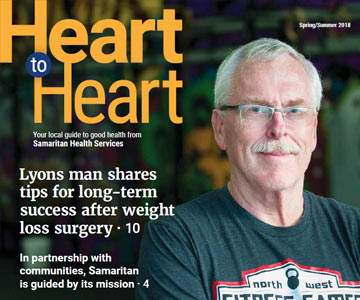 Front cover of Heart to Heart for April 2018.