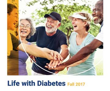 Friends supporting one another - Life with Diabetes Fall 2017 header image.