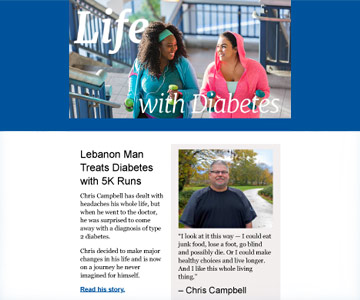 Life with Diabetes newsletter - January 2018