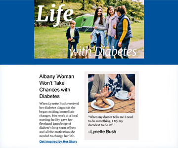 Life with Diabetes E-Newsletter in August 2018