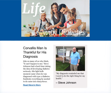 Life with Diabetes Spring 2019 newsletter.