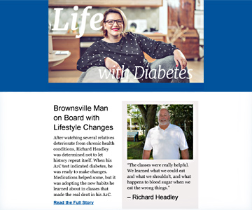 Life with Diabetes 2019 fall newsletter.