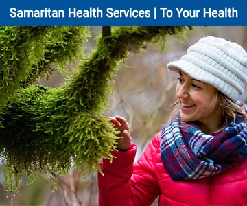 To Your Your Health Newsletter banner - woman on a hike.