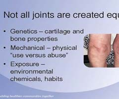 Powerpoint slide about joints going bad