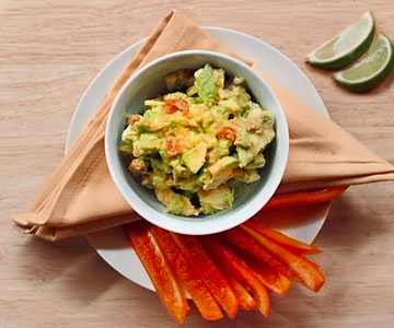 This guacamole recipe is healthy and delicious.