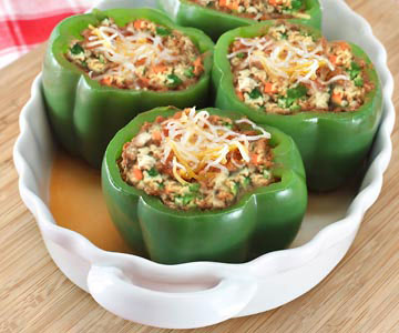 Stuffed peppers can be nutritious and delicious!