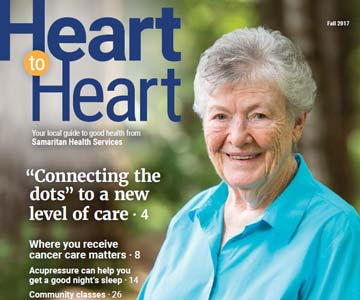 Cover of Fall 2017 issue of Heart to Heart magazine