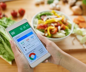 Health apps can be useful in setting new fitness goals.