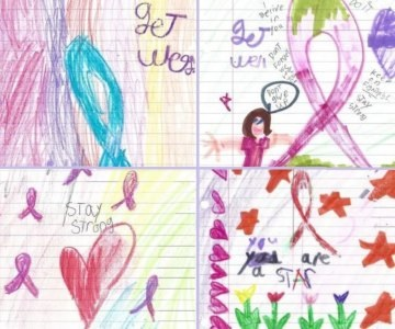 Artwork drawn for cancer patients  by Albany elementary school children
