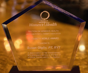 Photo of the Section on Women's Health Award.