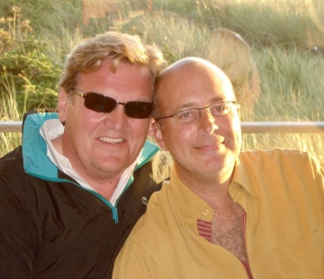 Gleneden Beach couple, Chuck Feist and Mark Sanders, smiles together in a recent photo.