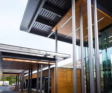 The main entry for the new hospital in Lincoln City, Oregon.