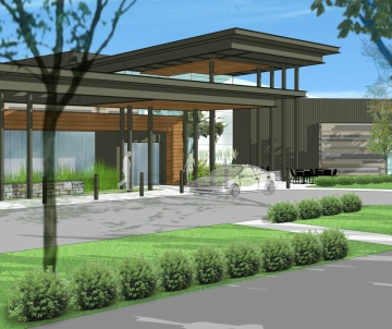 Architectural rendering of new Samaritan North Lincoln Hospital