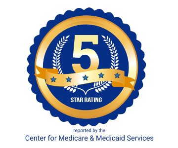 Five star rating logo