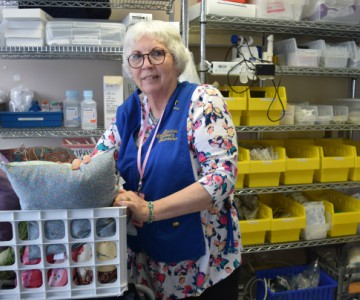Hospital volunteer Phyllis O