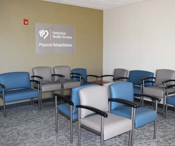 empty waiting room ready to receive patients