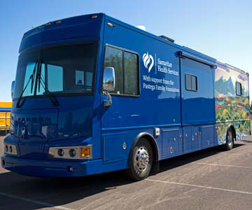 The  SamCare mobile medical van.