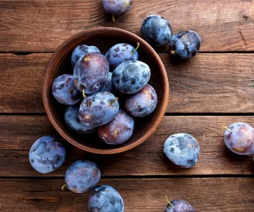 Plums are a great source of fiber.