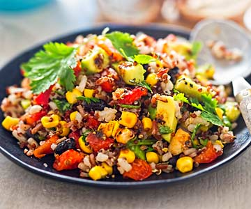 Mexican Pan Quinoa is a plant-based recipe.