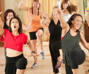 Zumba will get your blood pumping to increase cardiovascular fitness.
