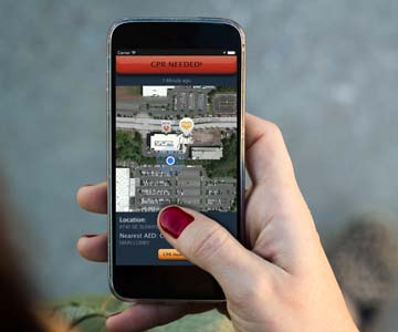 The PulsePoint App connects volunteers with medical needs.
