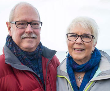 Depoe Bay couple on Hearts & Health cover February 2017.