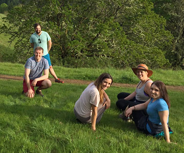 Samaritan graduate students on a hike in Oregon