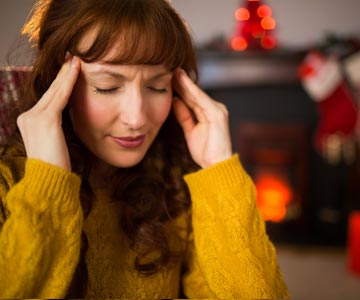 The stress of the holidays can cuase a headache.
