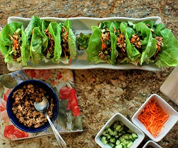 Thai Turkey Lettuce Cups are healthy and delicious.