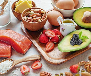 Various foods that are included in the Keto Diet.