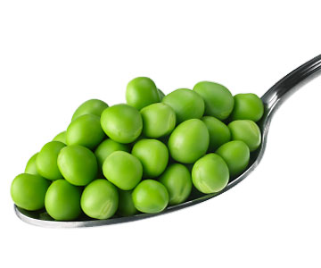 Peas are high in fiber and a good source of Vitamins A and C.