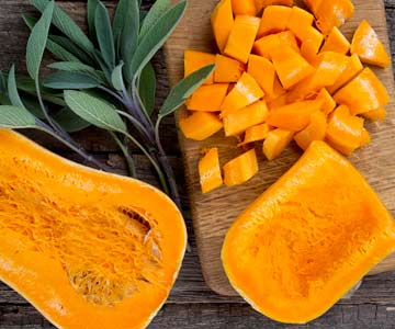 Winter squash is an easy antioxidant rich food to add to your diet.