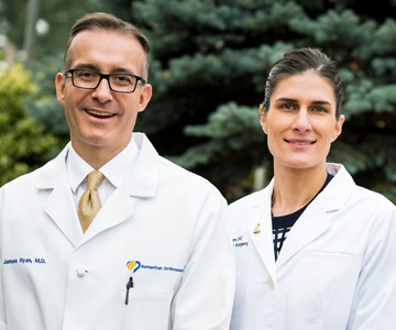 Dr. James Ryan and Dr. Kelli Baum are orthopedic surgeons at Samaritan Medical Group Orthopedics – Albany.