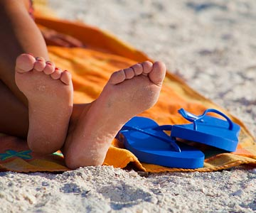 Continuous wear of some flip flops can be detrimental to your feet.