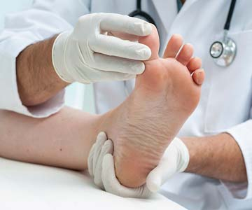 Podiatrists specialize in foot and ankle issues.