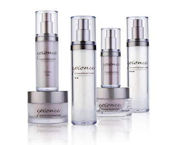 Epionce offers an array of professional skincare products.