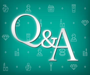 question and answer beauty graphic