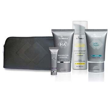 Skin Medica travel bag with products.