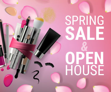 Come to our spring sale and open house in April 2019!
